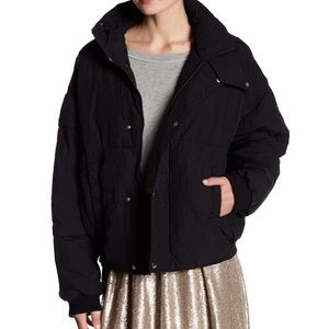 Free People Black Cold Cold Rush Puffer Jacket